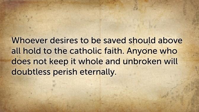 Tony and the Athanasian Creed (2)